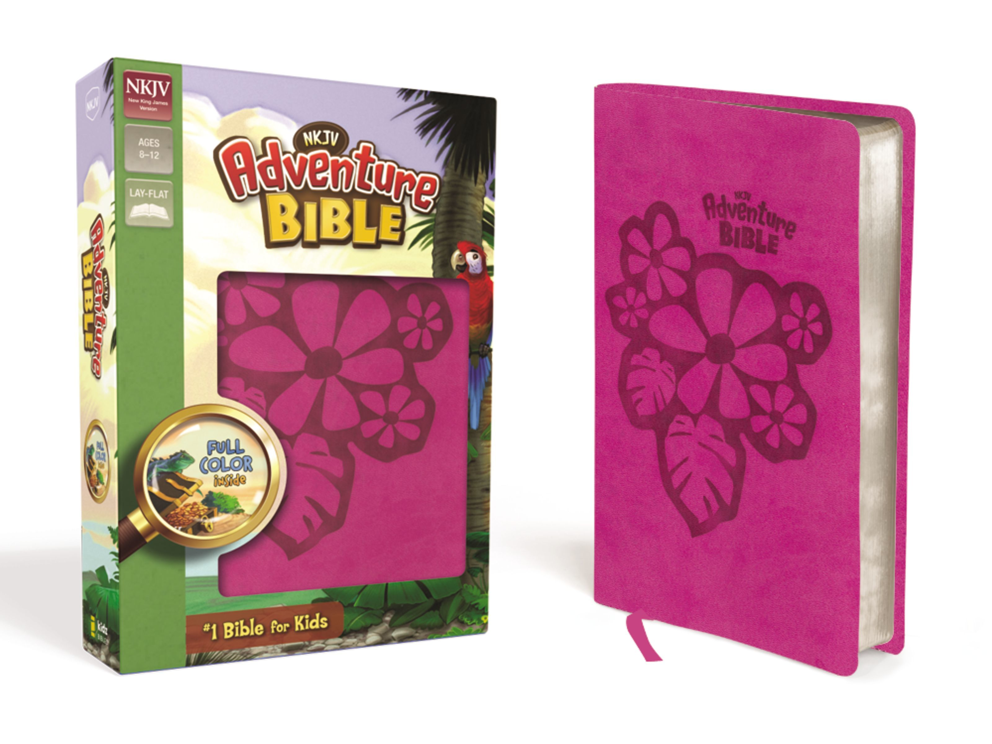 NKJV Adventure Bible- Pink Flower