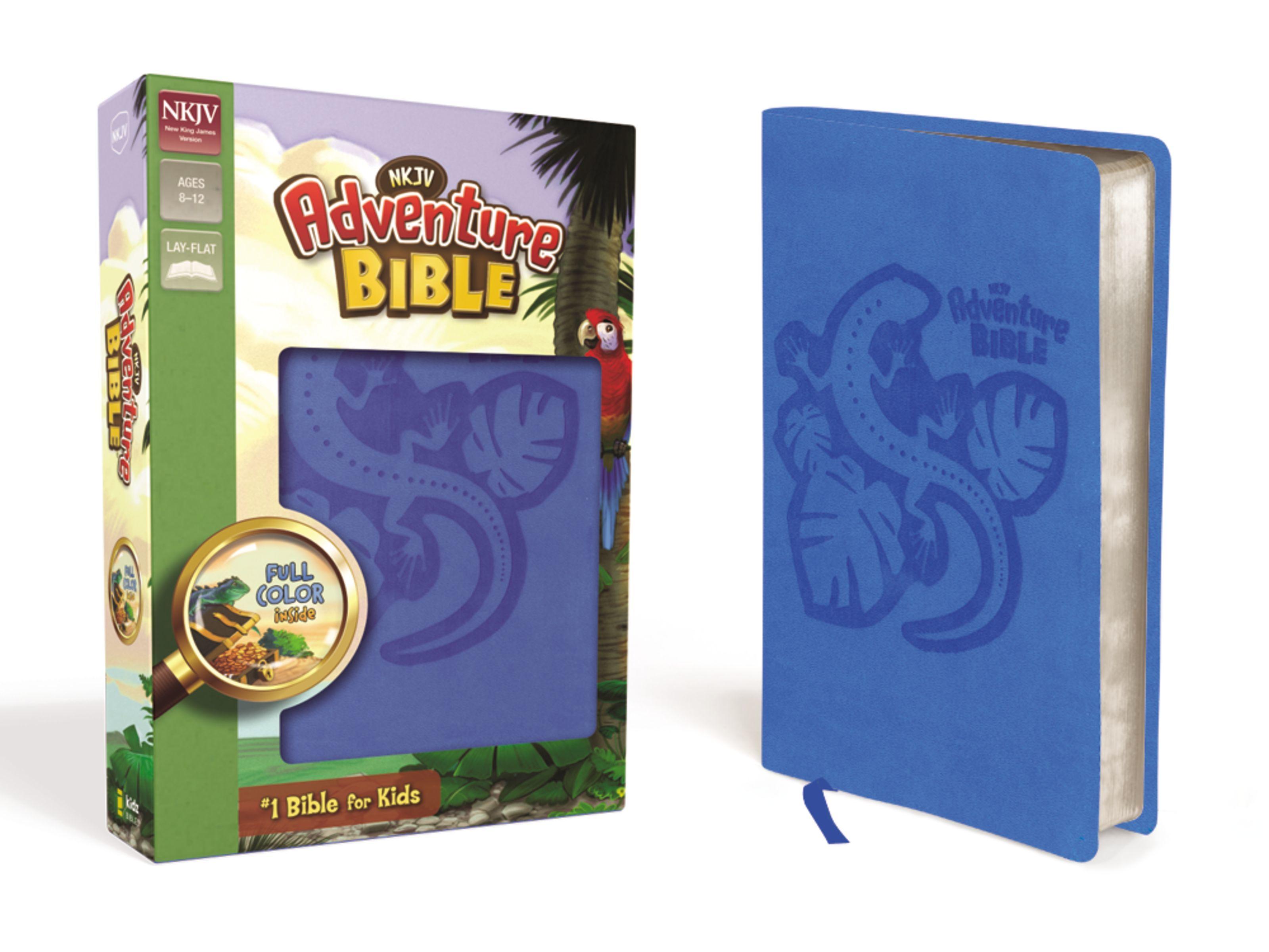 NKJV Adventure Bible- Blue Lizard