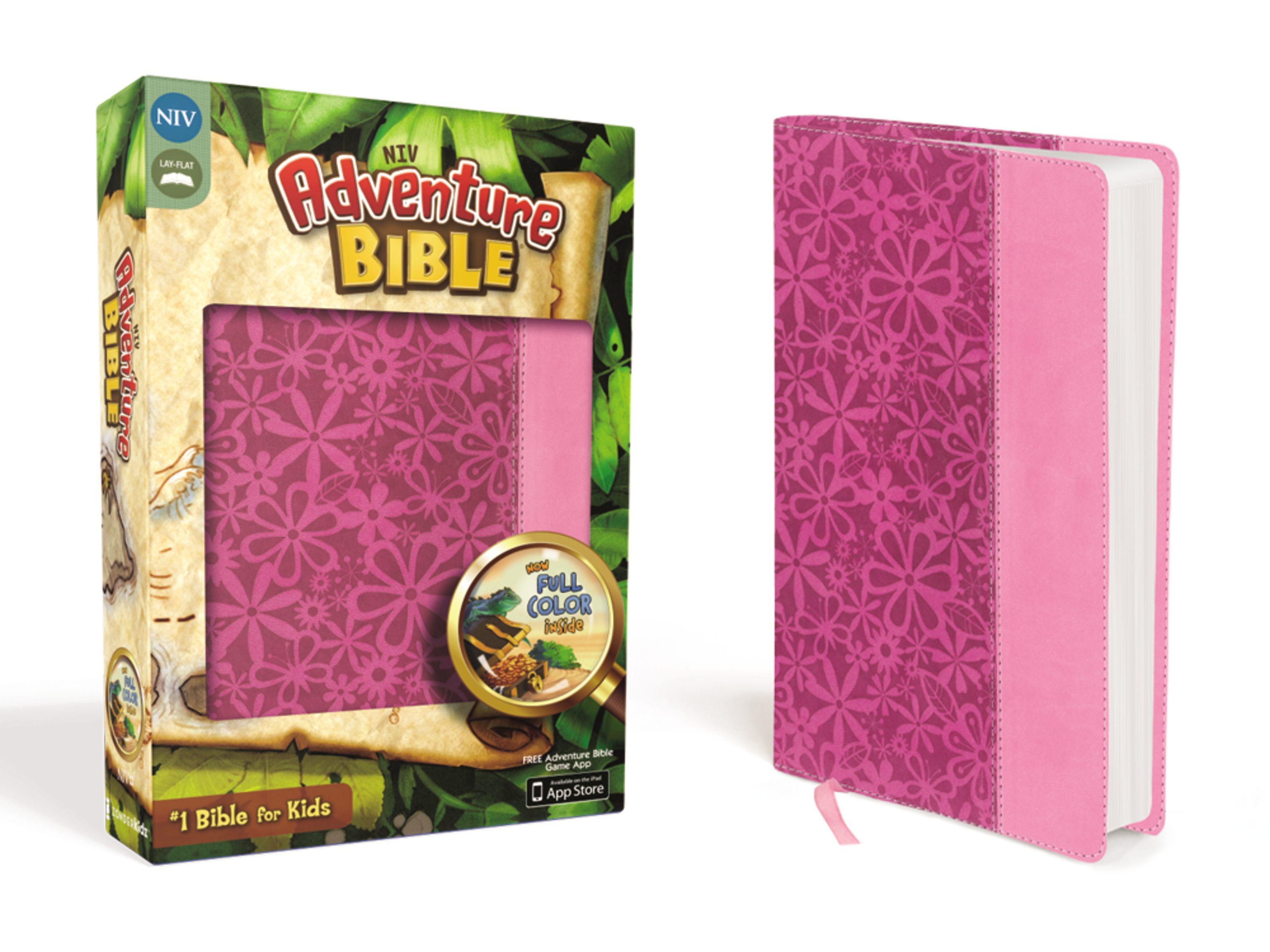 NIV Adventure Bible- Pink Floral Pattern
