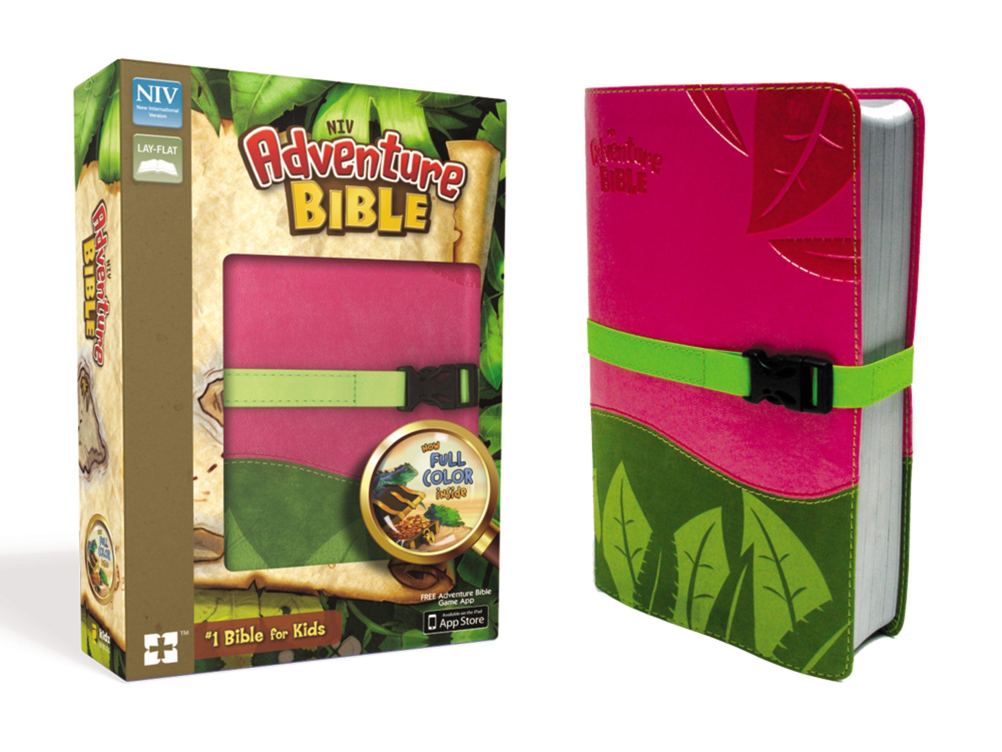 NIV Adventure Bible- Pink/Green w/Strap