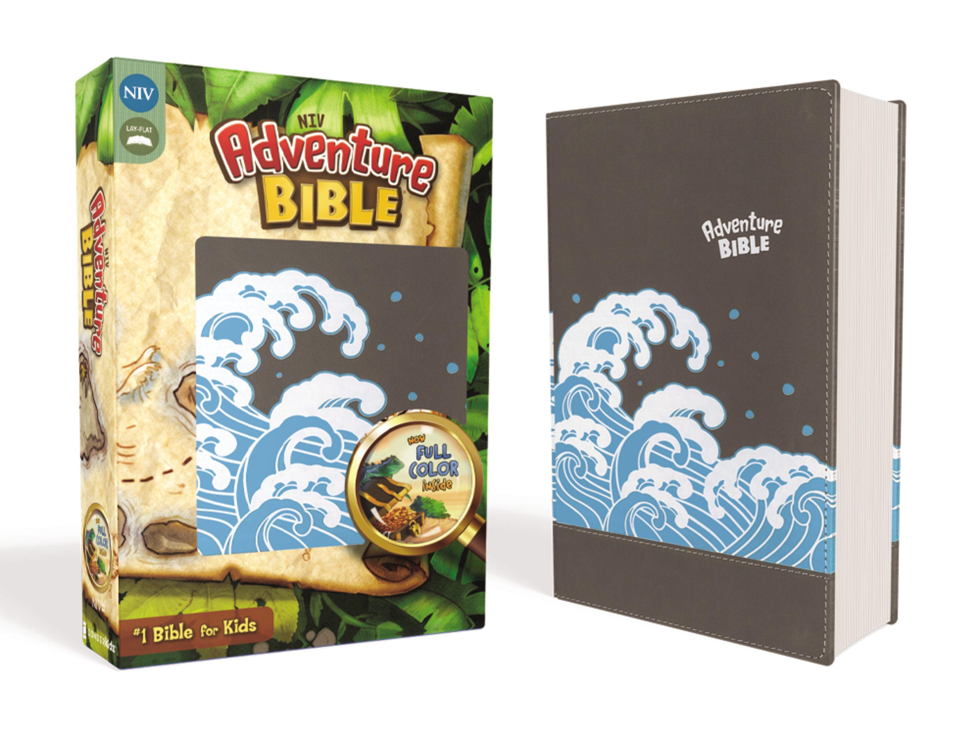NIV Adventure Bible- Gray w/Waves