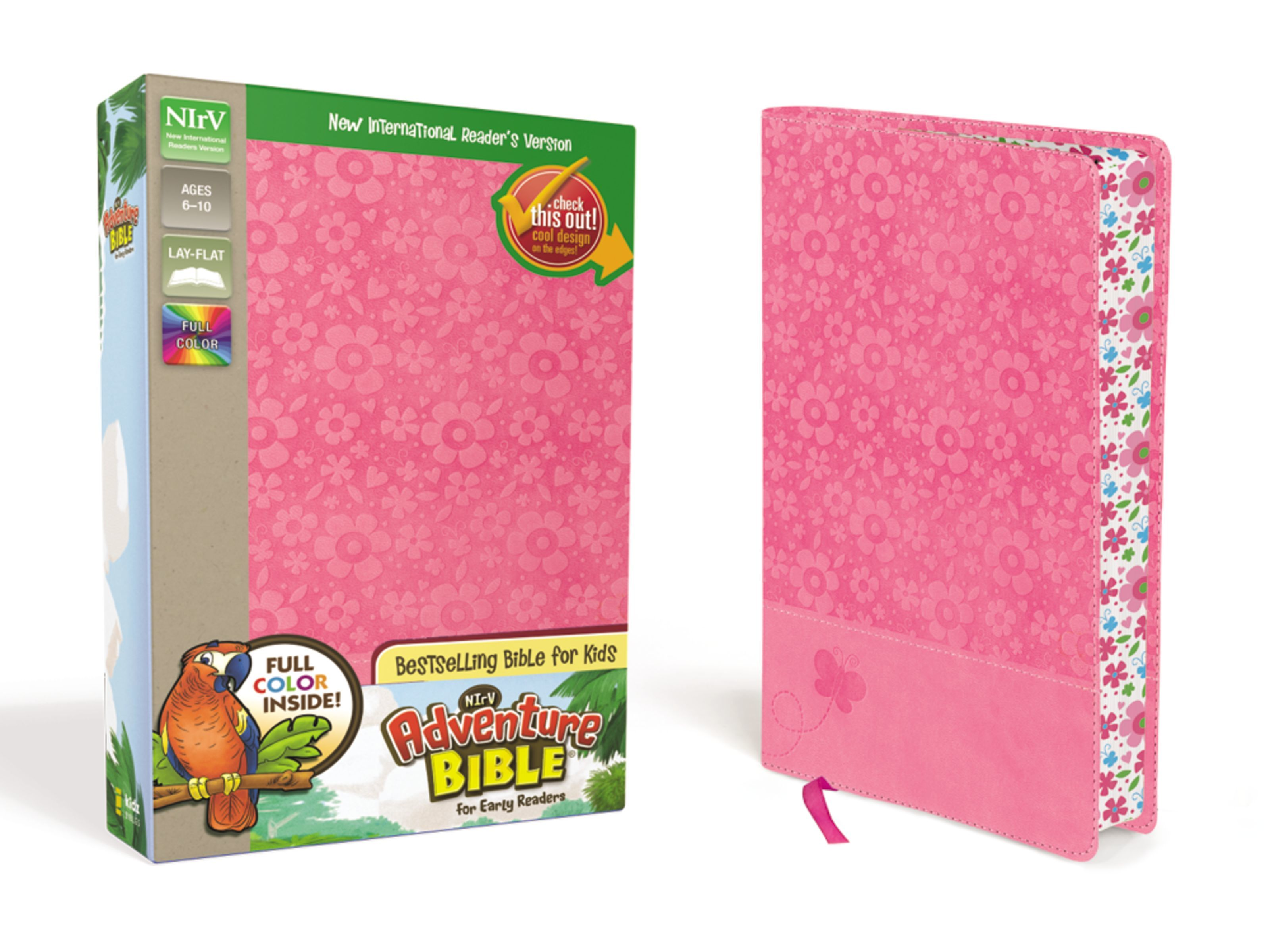 NIrV Adventure Bible- Pink Floral