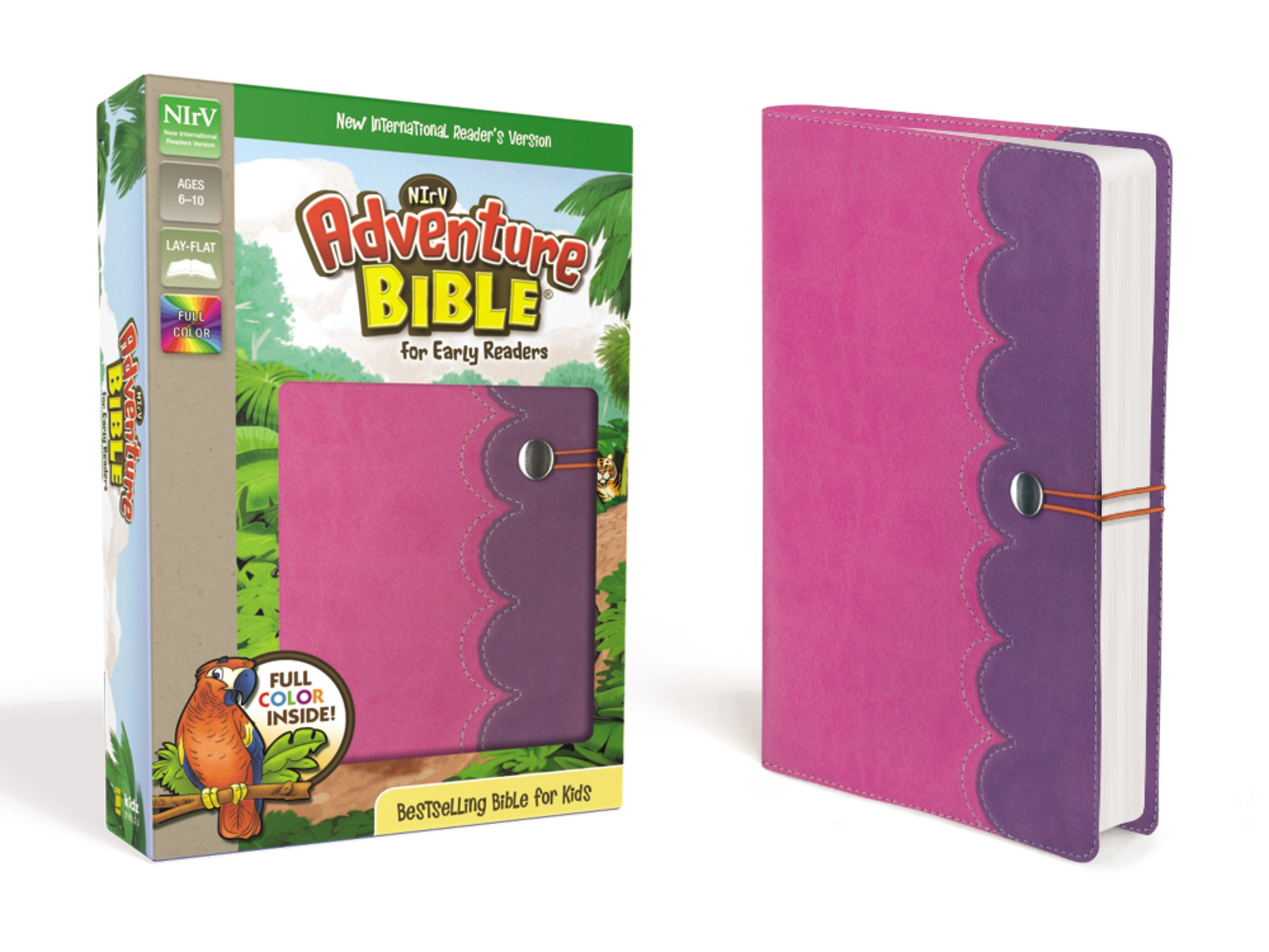 NIrV Adventure Bible- Pink/Purple