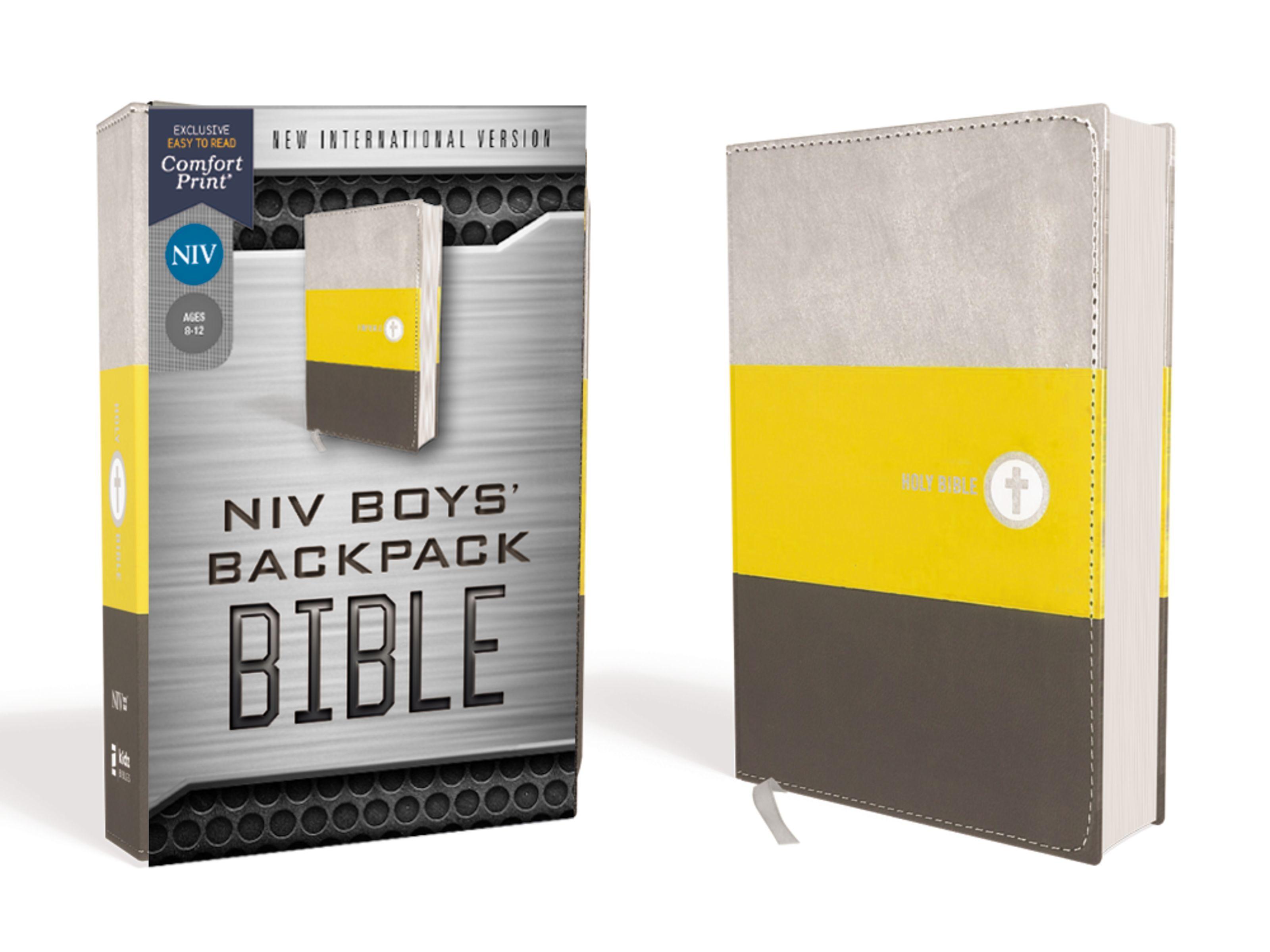 NIV Boys' Backpack Bible Compact- 97803104550004